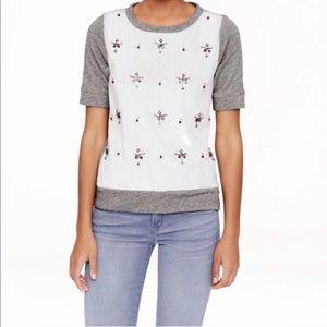J.CREW COLLECTION Jeweled Sweatshirt